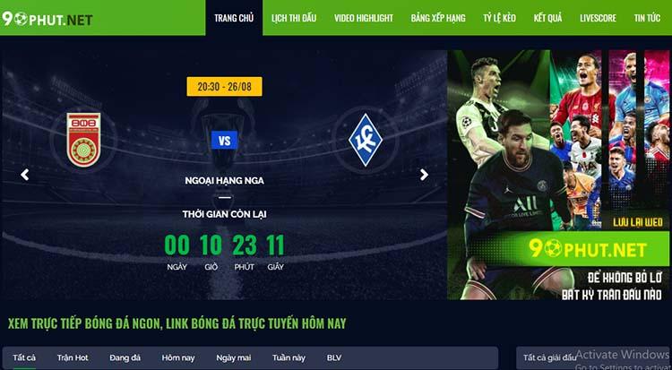 xem kết quả bóng đá tại 90phut.net